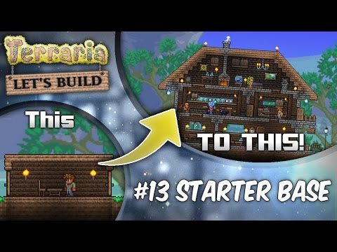 Terraria Let's Build Part 13 | Starter Houses | Base Tutorial | Survive Your First Night