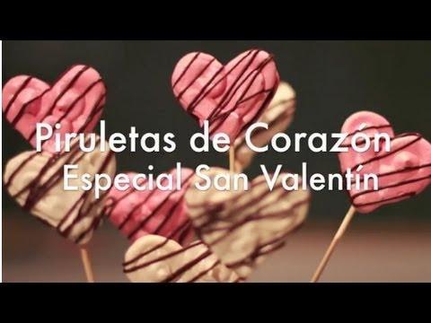 Piruletas de Corazón de Merengue Suizo - Recetas para San Valentín - Parte 2
