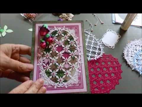 Tutorial How to Make Cascading Fuchsia and Heartfelt Creations Cards