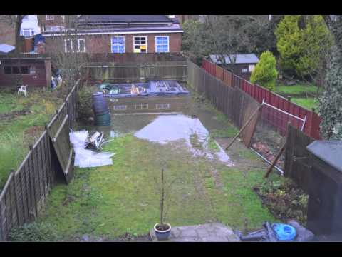 Water drainage problem in garden - time lapse