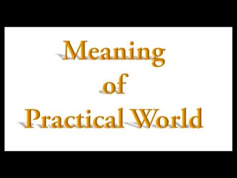 Meaning of Practical World