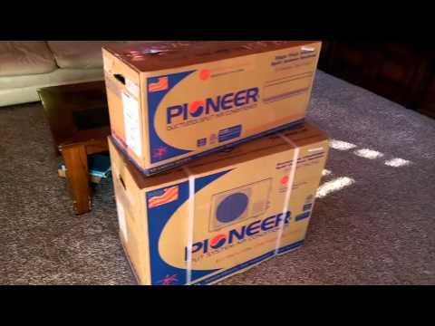 Pioneer Mini Split 9000 btu 15 SEER  110v Air Conditioner install part 1