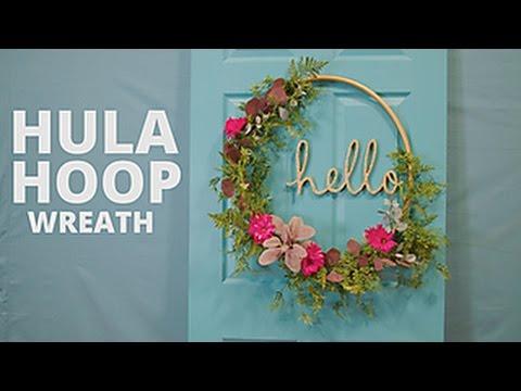 DIY Floral Hula Hoop Wreath - HGTV