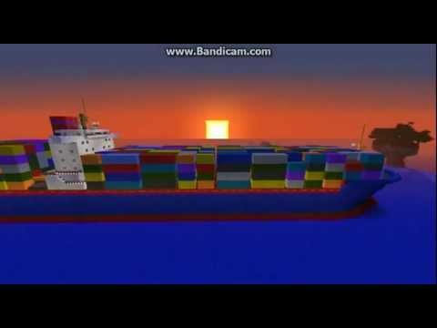 [Minecraft] [★2] 1:1 Container Ship - Containerschiff :)