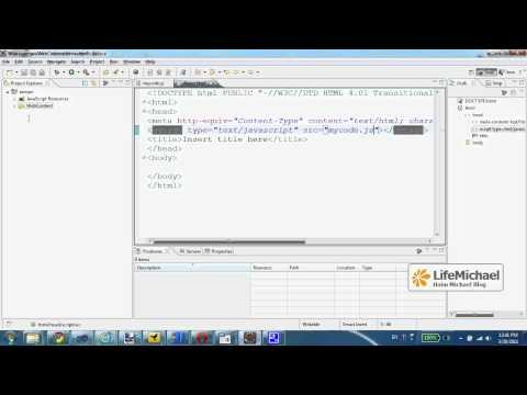 JavaScript Coding using Eclipse IDE