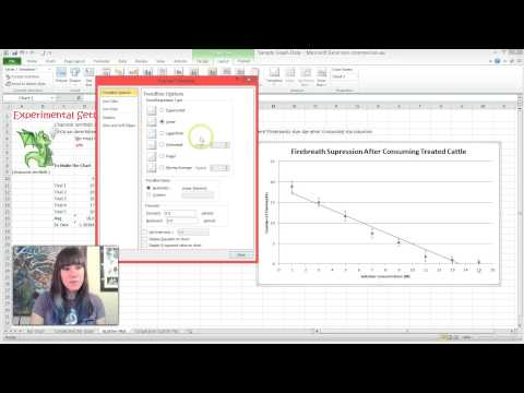 How to Add A Trendline and R squared Value to A Scatter Plot in Excel