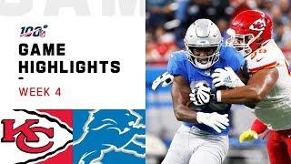 Chiefs vs. Lions Week 4 Highlights   NFL 2019
