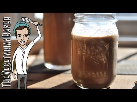 How To Make Chocolate Hazelnut Milk | Drinkable Nutella | TheVegetarianBaker