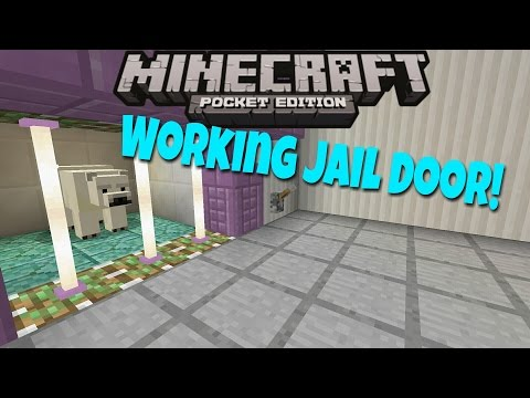 [0.17.0] How to make working Jail door in MCPE (EASY!!)