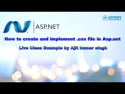 How to use style sheet in asp.net || use of css in asp.net