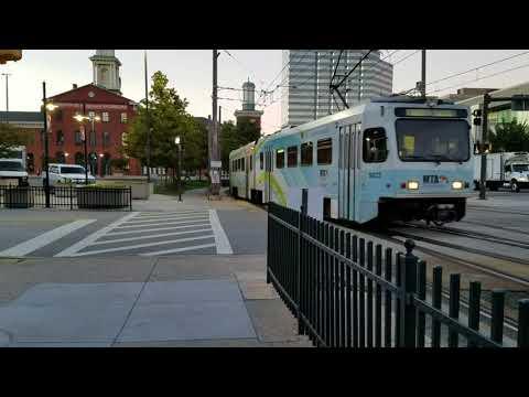 MTA MARYLAND:Evening Light Rail Action@Camden Yards
