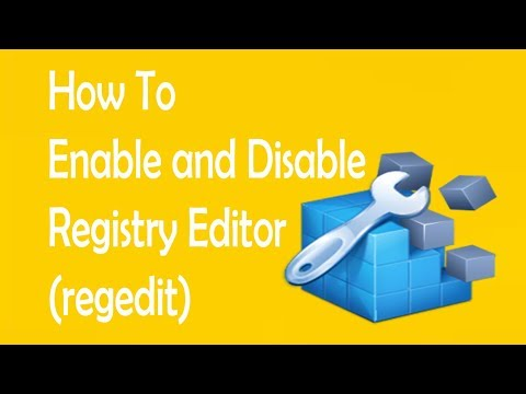 How to Disable and Enable Registry Editor (regedit) using windows 10/8/8.1/ 7/xp/vista