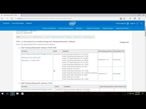 How To Download and Install Intel Bluetooth Driver Software On Windows 10/8/7