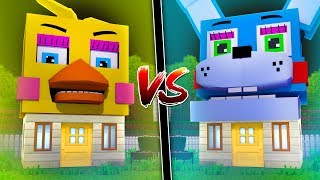 HOUSE OF FNAF TOY CHICA VS HOUSE OF TOY BONNIE in MINECRAFT
