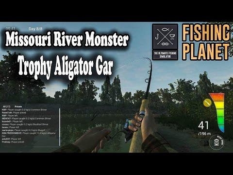 Fishing Planet - Missouri Fishing River Monster Trophy Aligator Gar