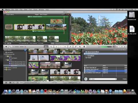 iMovie 11: Adding a Sound Effect