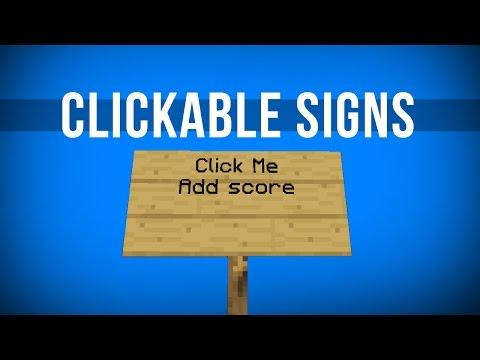 Clickable Signs in Vanilla Minecraft!