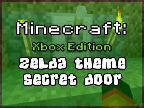 Minecraft Xbox 360 Zelda Theme Secret Door using Note Blocks & Pistons