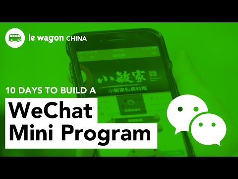 Less than 10 days to build a WeChat mini program 小程序!