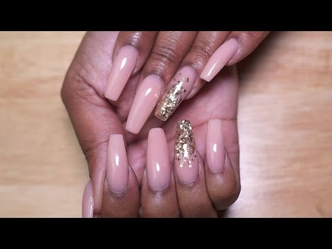 Coffin Shaped Pixie Pink Acrylic Nails | LongHairPrettyNails