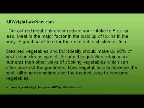 Tips On a Homemade Colon Cleansing Diet For Weight Loss