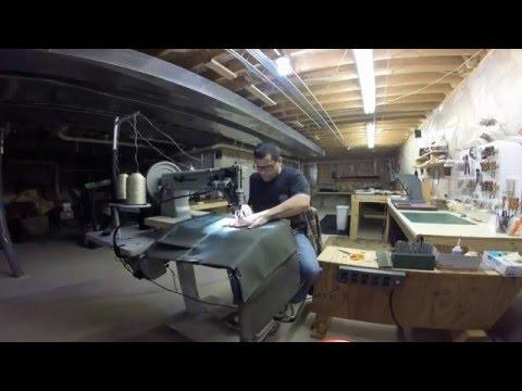 Making A Waxed Canvas Tote  Bag. CB-4500