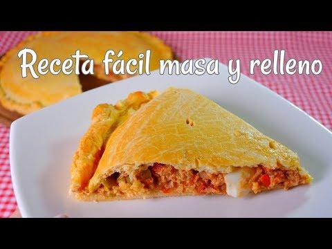 Tarta de atún MASA Y RELLENO Receta pascuas Empanada gallega