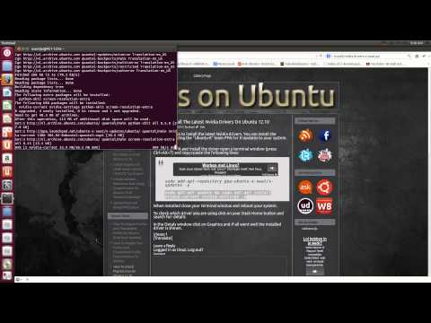 How To Install The Latest Nvidia Drivers On Ubuntu 12.10