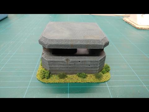 Let's Make - Cheap & Easy Foamboard Bunkers & Pillboxes Scatter Terrain