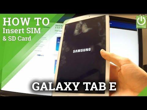 Insert SIM and SD Card in SAMSUNG T561 Galaxy Tab E 9.6