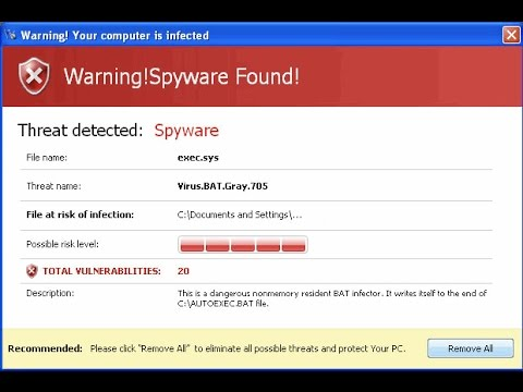 Fake Virus Warning - Don't fall for this scam!