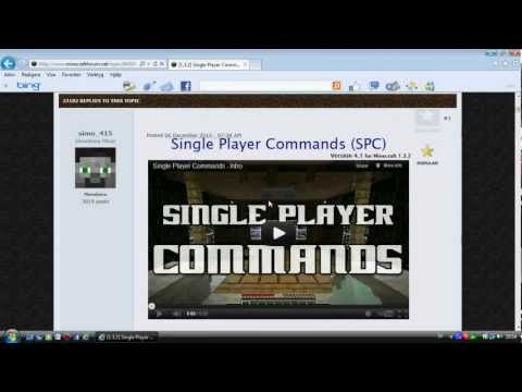 How to download singleplayer commands (worldedit) 1.4.2