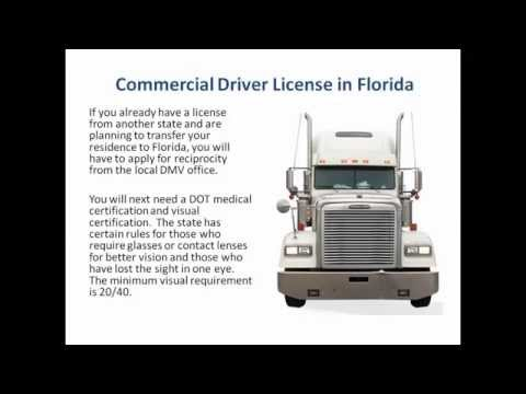 CDL in Florida   Commercial Drivers License Florida