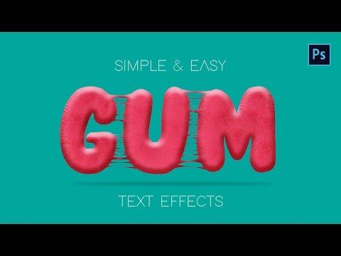 Photoshop Text Effect Tutorial : Gum Text Title Effect Illustrator & Photoshop Logo design