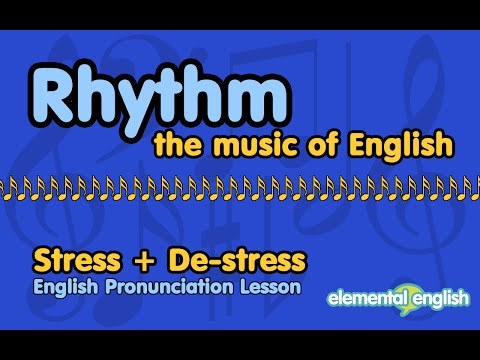 Rhythm Practice: Stress + De-Stress | English Pronunciation Lesson