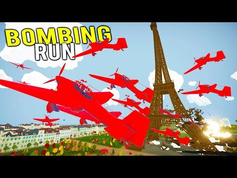 BLOWING UP THE EIFFEL TOWER WITH A MASSIVE BOMBING RUN! - Total Tank Simulator NEW Gameplay