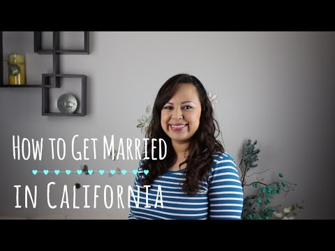 How to Get Married in California | Changing your last name