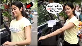 Jhanvi Kapoor's CUTE Reaction After Seeing Media Early Morning At A Food Joint