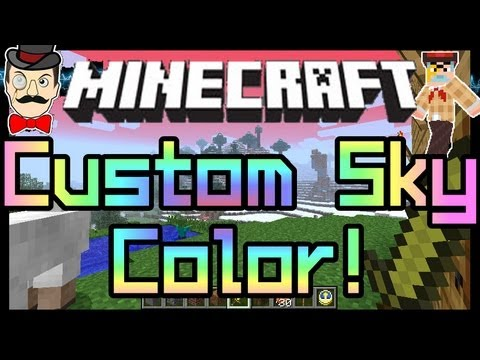 Minecraft Custom SKY COLOR & TIME Mod ! Change Skies & Fog !