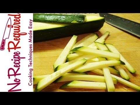 How to Julienne Zucchini - NoRecipeRequired.com