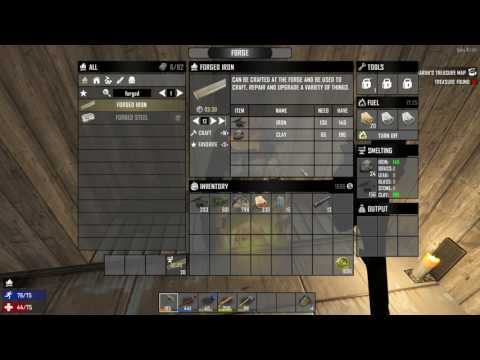 How to make Forged Iron - 7 Days to Die