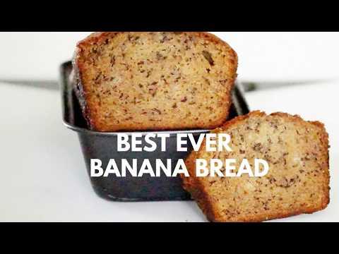Banana Bread - Best Ever Banana Bread- No Butter banana bread