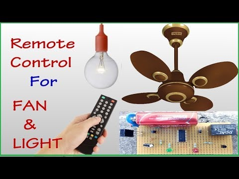 Control FAN and LIGHT using TV remote || without coding || (HOME AUTOMATION)
