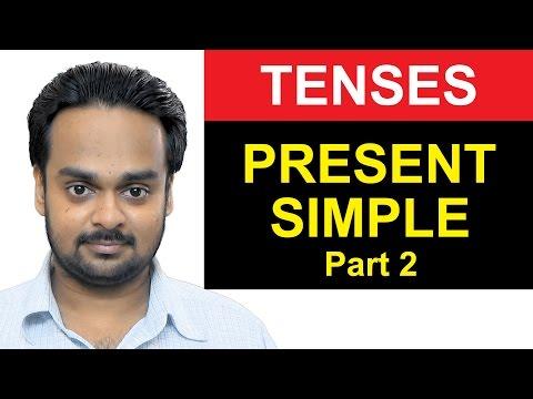 PRESENT SIMPLE TENSE Part 2 - Making Sentences (Form) - Basic English Grammar