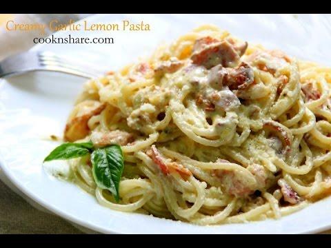 Creamy Garlic Lemon Pasta