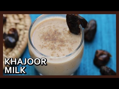 Healthy Khajoor Milk | Khajur Milk Shake Recipe | Dates Milkshake Recipe by Healthy Kadai