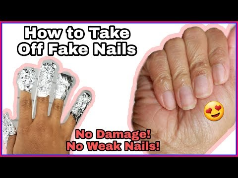 DIY How To Remove Acrylic Nails W/Out DAMAGE! 2 METHODS!