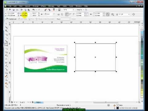 Learn CorelDraw - Tutorial in HINDI -3- visiting card design