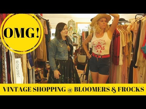 VINTAGE CLOTHING SHOPPING AT BLOOMERS & FROCKS!