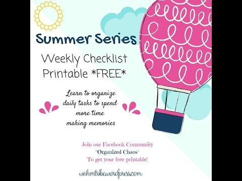 Weekly Checklist Printable!